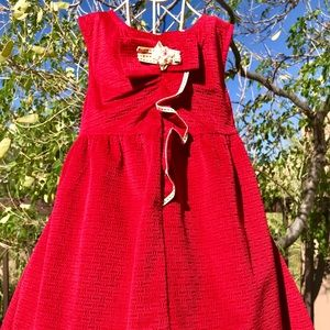 Other - Toddler Boutique Che Tre Red Flocked Dress